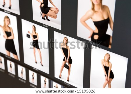 Fashion background. Imitation of computer screen. - stock photo
