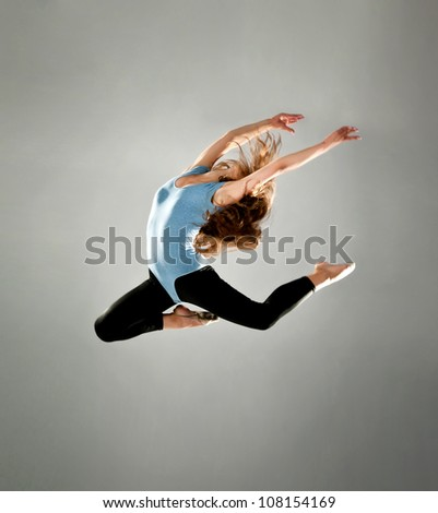 fashion ballet dancer. studio shot - stock photo