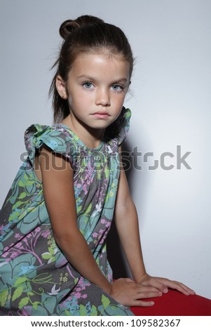 fashion beautiful little girl