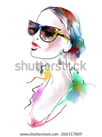 Fashion beautiful woman  - stock photo