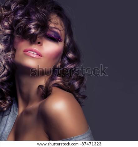 Fashion Beauty Portrait. Sexy Girl - stock photo