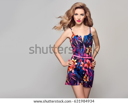 Woman in a summer dress