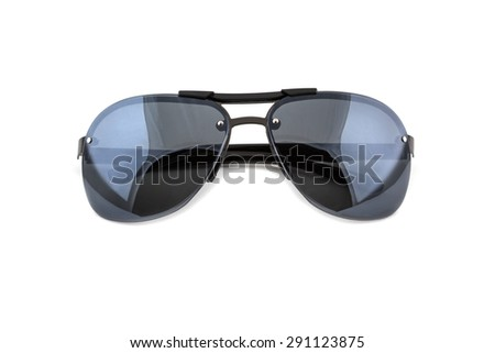 Fashion Black sunglasses isolated  on white background