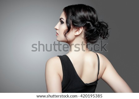 Fashion Brunette Girl - stock photo