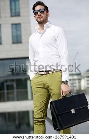fashion businessman - stock photo