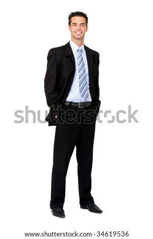 fashion businessman - stock photo