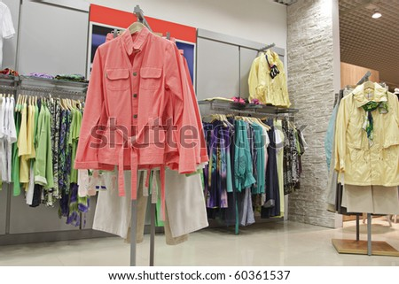 fashion clothes store - stock photo