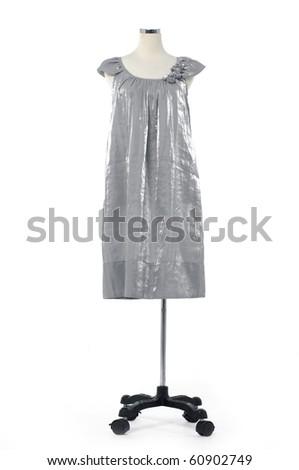 Fashion clothing hanging as display - stock photo