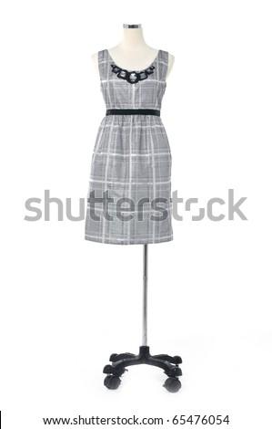 Fashion clothing on mannequin, isolated - stock photo