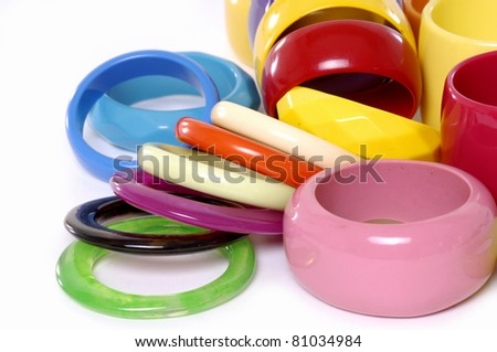 Fashion colorful pile bangles