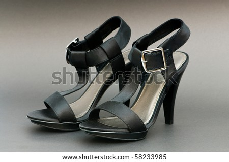Fashion concept with open toe woman shoes