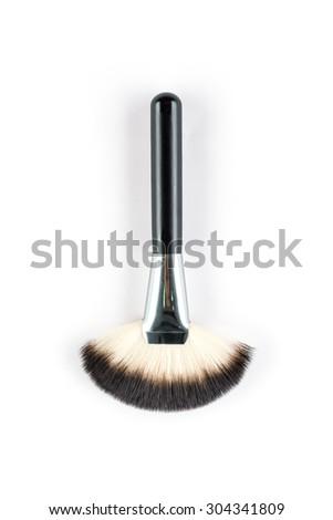fashion cosmetic brush,  High Angle view, beauty  tool - stock photo