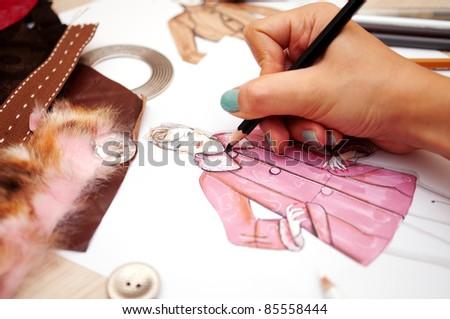 Fashion designer - stock photo