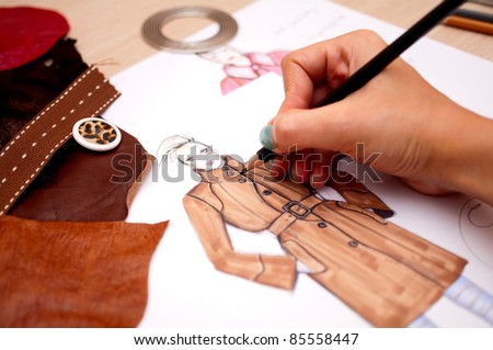 Fashion designer - stock photo