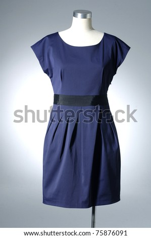 fashion dress on mannequin - stock photo