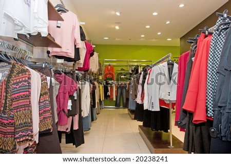 fashion dress store - stock photo