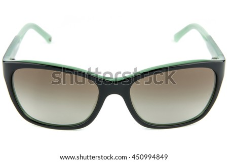 Fashion eyewear, sunglasses isolated various models