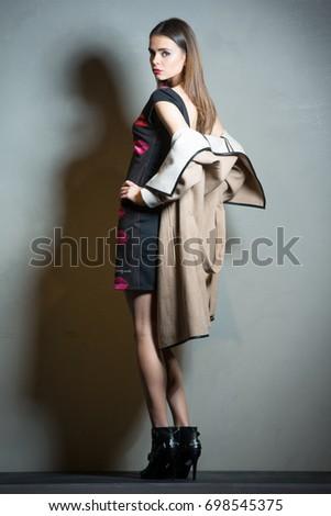 Fashion Girl Modern Look Sexual Woman Retro Style Vintage