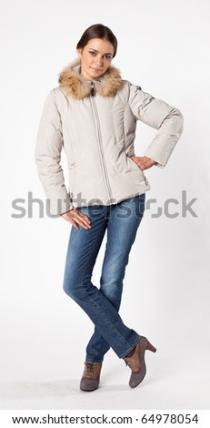 fashion girl on a white background