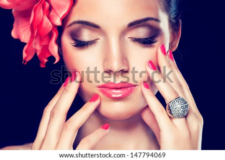 Fashion girl portrait - stock photo