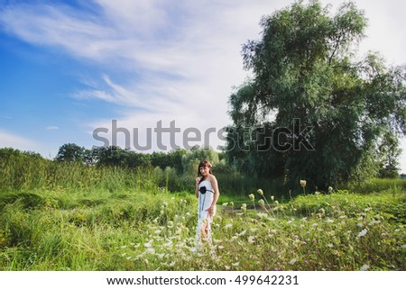 Fashion girl portrait outdoor, walk woman, girl in the park, beautiful adult girl in beautiful place nature