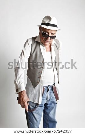 fashion grandpa - stock photo