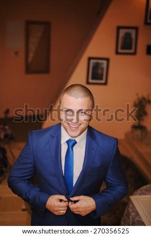 fashion groom aloune - stock photo