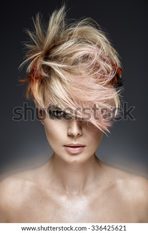 Fashion Haircut - stock photo