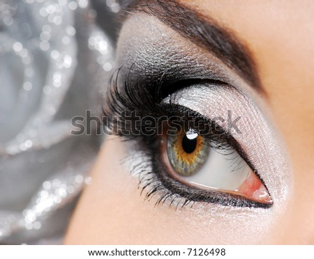 Fashion. Happy new year make-up. Woman eye. - stock photo