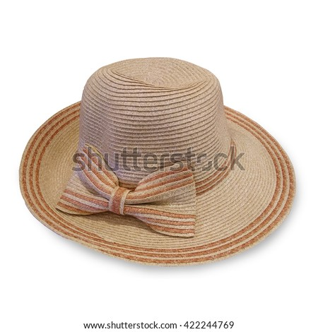 Fashion hats isolated over white background