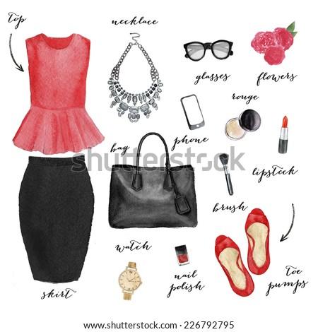 Fashion illustration - stock photo