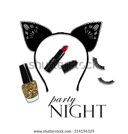 Fashion Illustration - Valentine - sexy night date - party