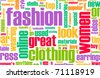 Fashion Industry Online as a Creative Abstract - stock vector