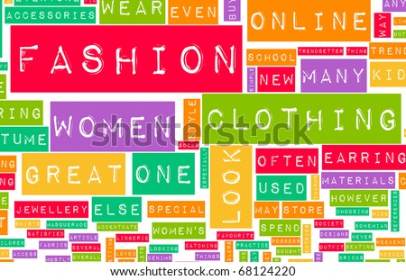Fashion Industry Online as a Creative Abstract - stock photo