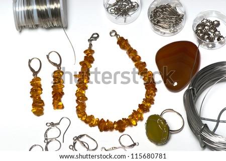 fashion jewellery - stock photo