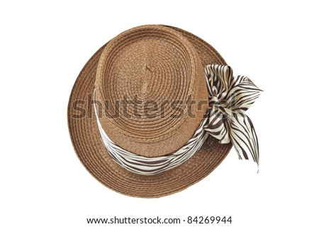 Fashion lady hat top view - stock photo