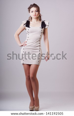 Fashion lady in short dress