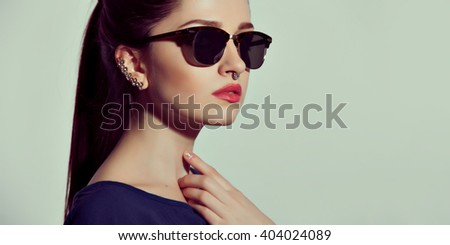 Fashion Lady stylish Swag Accessories. Eyeglasses and Jewelry.