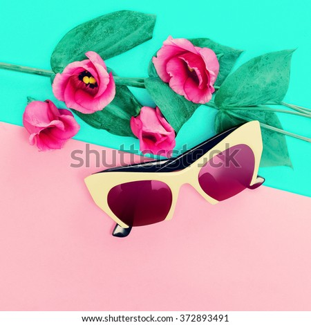 Fashion Lady Sunglasses. Be in trend - stock photo