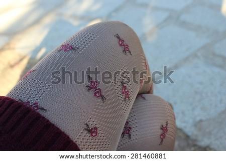 fashion legs - stock photo