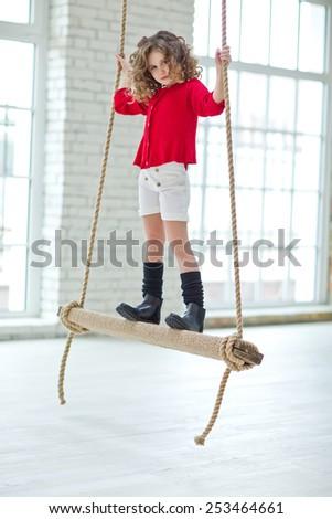 Fashion little girl - stock photo