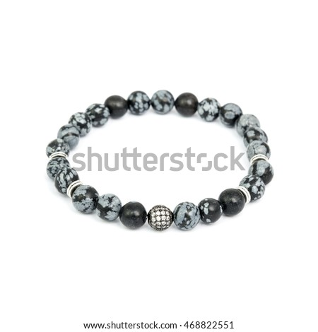 Fashion male bracelet isolated on white background
