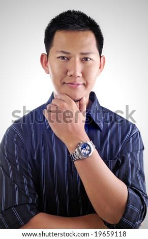 Fashion male portrait - stock photo