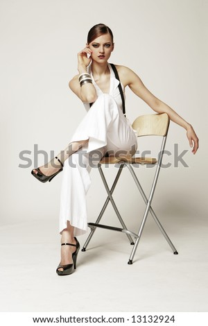 Fashion model - stock photo
