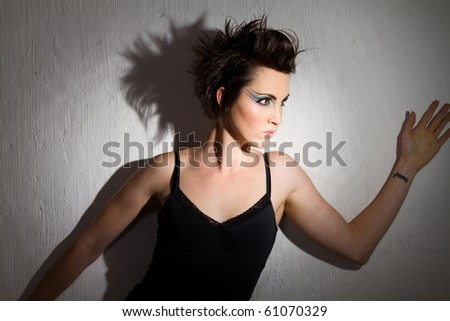 fashion model in light - stock photo