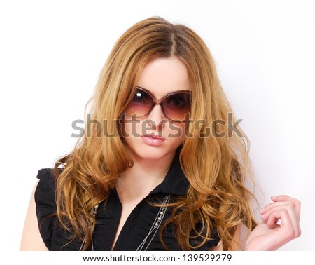 Fashion model in sunglasses