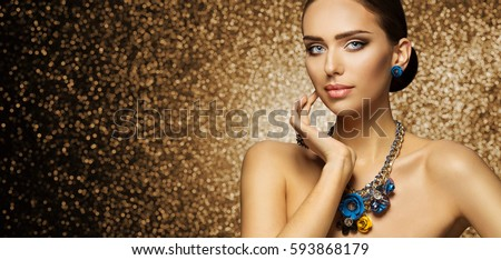 http://thumb7.shutterstock.com/display_pic_with_logo/604900/593868179/stock-photo-fashion-model-makeup-portrait-elegant-woman-in-necklace-jewelry-touching-face-beautiful-slim-lady-593868179.jpg