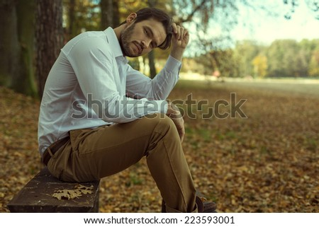 Fashion model posing - stock photo