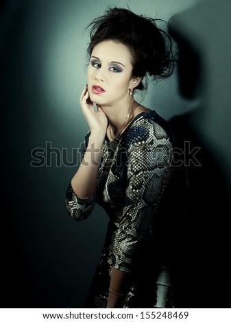 fashion model posing in studio