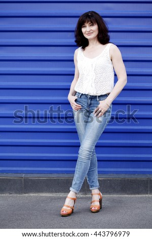 Fashion model. Summer look. 40s - stock photo